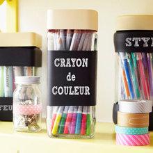 DIY : Customisez des bocaux en verre pour ranger stylos et crayons