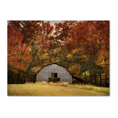 Jai Johnson 'Autumn Barn' Canvas Art, 47 x 35