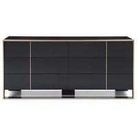 Nova Domus Cartier Modern Black & Brushed Bronze Dresser