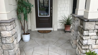 Textured Stone Front Porch