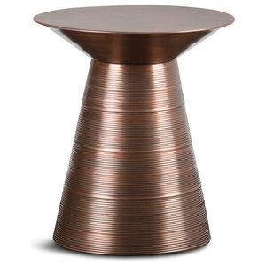 Sheridan Aged Copper Metal Side Table