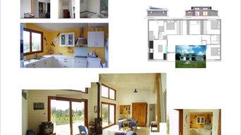 Architecture intérieur maison bois