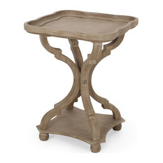 Douglas French Country Accent Table With Square Top Natural