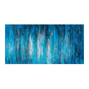 """A Sea of Blue"" Hand Painted Canvas Abstract Artwork; Fine Art; Modern Artwork"