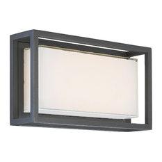 "Modern Forms Framed 14"" LED Outdoor Wall Light, Bronze"