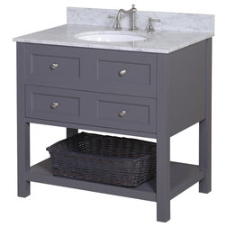 Great Transitional Bathroom Vanities And Sink Consoles by Kitchen Bath Collection