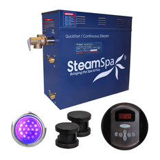 SteamSpa 12 KW QuickStart Acu-Steam Bath Generator Package,Oil Rubbed Bronze