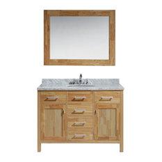 """London 48"""" Single Sink Vanity Set in Honey Oak Finish"""