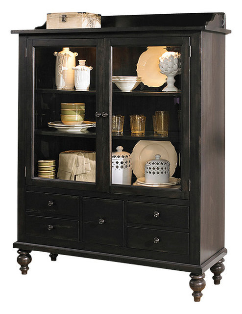 Display Cabinet With Solids Rubberwood and Black Cherry - Traditional - China Cabinets And ...