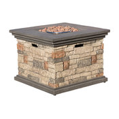 GDF Studio Crawford Outdoor Square Fire Pit