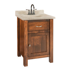 "Regal Bath Vanity 23"" Wood Doors, Brown Maple Nutmeg Stain"