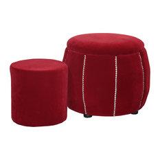 14x14 Inch Cushion Footstools Ottomans Houzz