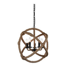 Padma 5-Light Up Chandelier, Black