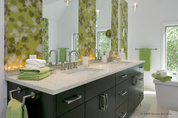 Contemporary Bathroom Countertops green and clean: ecofriendly bath countertops