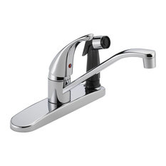 Peerless Widespread Kitchen Faucet and Side Spray in Polished Chrome
