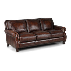 Simon Li Furniture   Simon Leather Sofa, Brown   Sofas