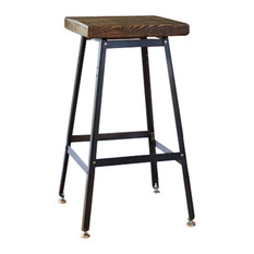 Barnxo Urban Bar Stool Reclaimed Barn Wood xx Antique Oak Bar Stools