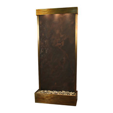 Tranquil River Flush Mount Water Fountain, Multicolor Featherstone, Rustic Coppe