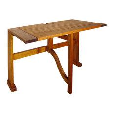 "Terrace Mates 36"" Villa Half-Square Drop-Leaf Gate Leg Table"