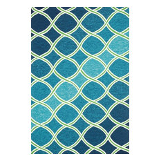 "Loloi Venice Beach Collection Rug, Blue and Green, 3'6""x5'6"""