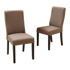 GDFStudio   Heath Fabric Dining Chairs, Taupe, Set Of 2   Dining Chairs
