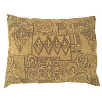 """Vintage Decorative Pillow With Floro-Geometric Design on Both Sides, size 22""""x2"""