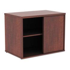 "Alera Open Office Low Storage Cabinet Credenza, 29 1/2""x19 1/8""x 22 7/8"", Cherry"