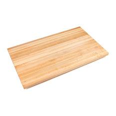 """1.5"""" Thick Maple Edge Grain Countertop, Varnique Semi-Gloss, 18""""l"""
