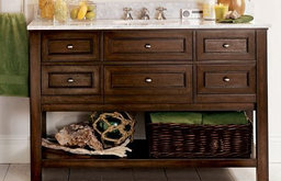 Classic Single Wide Sink Console, Espresso Finish