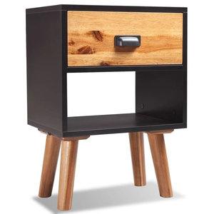 vidaXL Solid Acacia Wood Bedside Cabinet, 40x30x58 cm