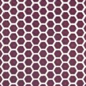 "Bliss 0.6""x0.6"" Ceramic Mosaic Tile, Gray, Summer Plum"