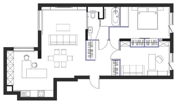 Houzz тур: Квартира, которой хочется быть лофтом