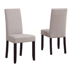Simpli Home Acadian Parson Dining Chairs, Natural, Set of 2