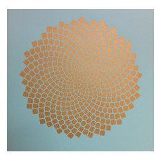 """Fibonacci Spiral"" Fine Art Print, Lagoon, 30.5x30.5 cm"