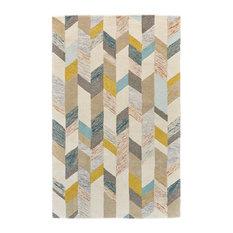 Weave & Wander Binada Rug, Gray and Gold, 8'x11'
