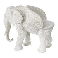 """Resin, 36""""H Elephant Chair, Gray"""