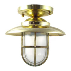 Nautical Flush Ceiling Light (Solid Brass/Interior & Exterior by Shiplights), Un