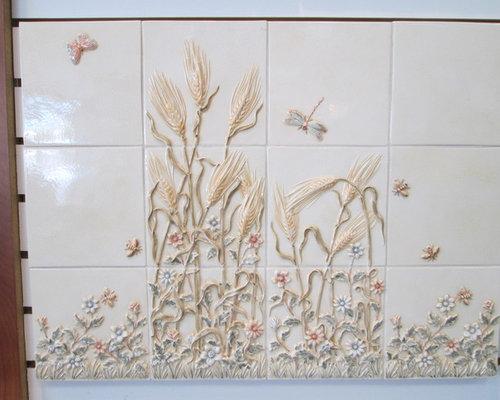 Handpainted Mural Mosaic - Tile