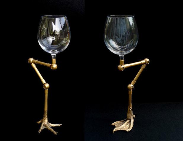 Contemporain Verre à Vin et Flûte à Champagne by Anna Borowski