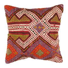 "Pasargad Turkish Vintage Kilim Pillow- 16"" x 26"""