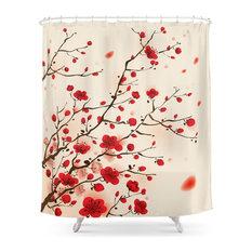 Oriental Plum Blossom in Spring Shower Curtain
