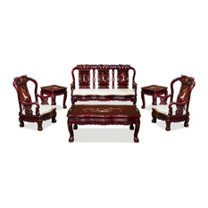 Rosewood Imperial Prosperity Design Sofa 6-Piece Set