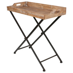 Convenience Concepts Wyoming Folding Serving Bar Table In
