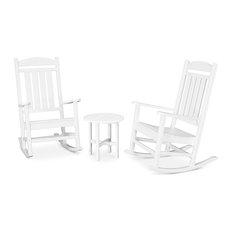 Polywood Presidential 3-Piece Rocker Set, White