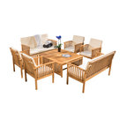 -Piece Beckley 8- Outdoor Wood Sofa Seating 8- Set