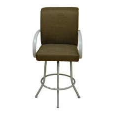 Negev Brown White Frame Bar Stool 30-inch