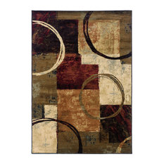 """Harrison Abstract Brown and Black Rug, 6'7""""x9'6"""""""