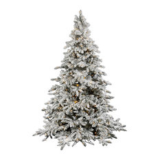 Vickerman Flocked Utica Fir Tree, 4.5', Warm White Led Lights