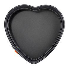 Le Creuset Toughened Non-Stick Heart Spring Form Round Cake Tin, 25 cm