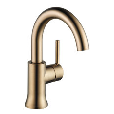 Delta Trinsic 1-Hole Faucet With Single Handle, Champagne Bronze
